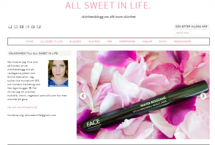 Allsweetinlife 2.0 – ny bloggdesign, Q & A och semester!