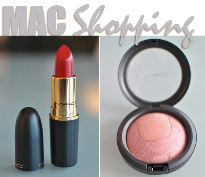 Mac Devine Nights kollektion. Rougen Scene to Be Seen och läppstiftet Prepare for Pleasure