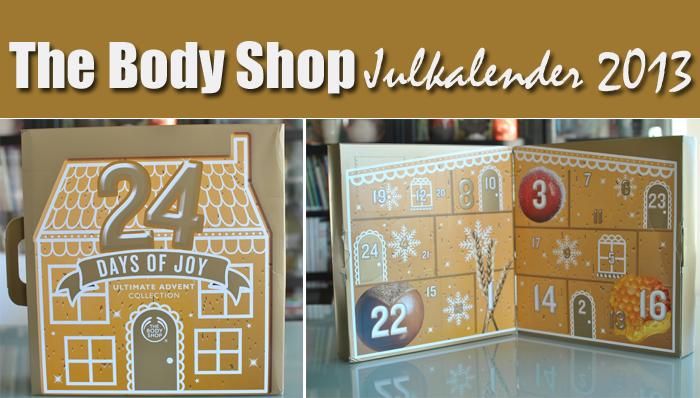 The Body Shops Julkalender, öppnas hos All Sweet In Life varje dag fram till Julafton.