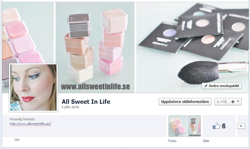 Nu finns All Sweet In Life på Facebook. Följ mig där