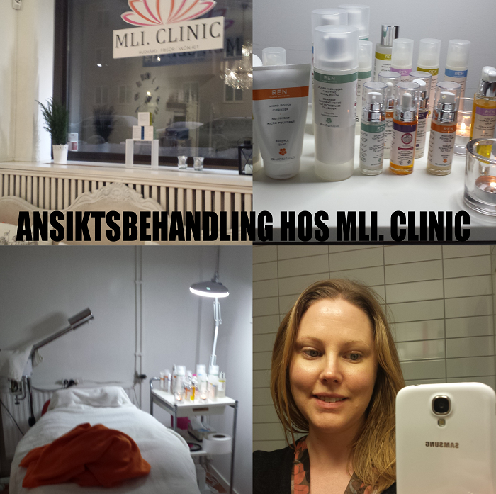 Ansiktsbehandling hos MLI Clinique som använder RENs produkter