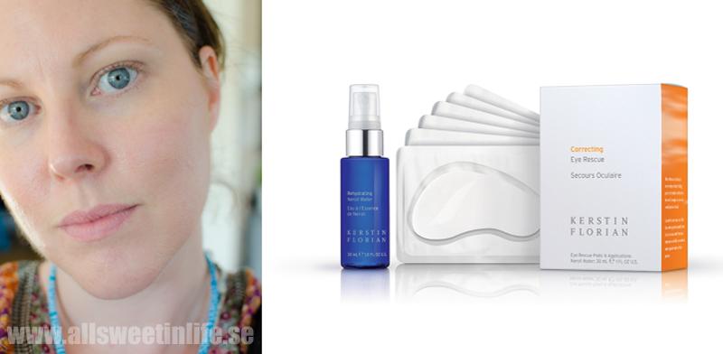 Ansiktsbehandling med Kerstin Florian eye rescue treatment recension