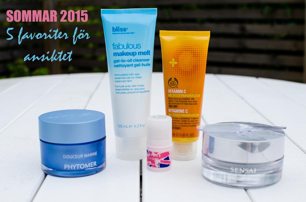 Mina favorit hudvårdsprodukter sommaredition 2015