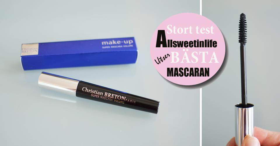 Allsweetinlife testar Christian Breton Super Mascara Volume