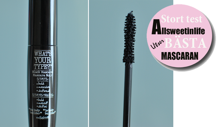 Test av The Balms What´s your Style Mascara