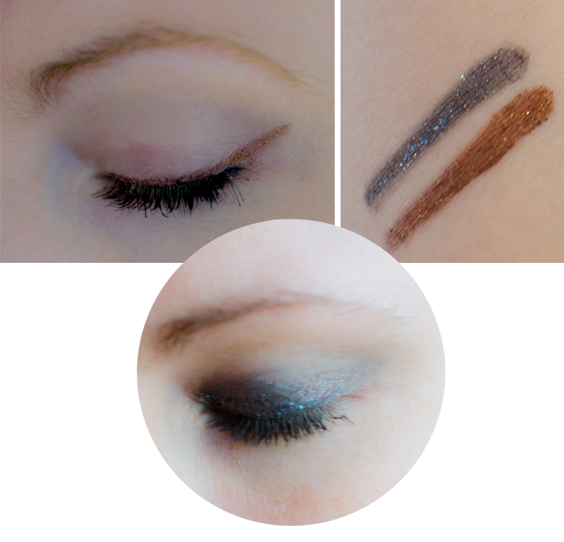 Bild på sminkning med Bobbi Brown Long Wear Gel Sparkle Swatches