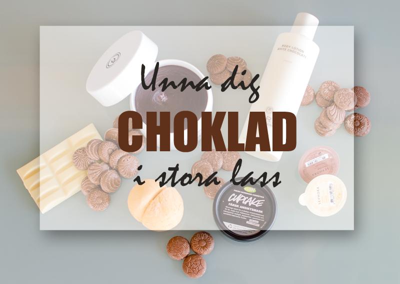 Underbart chokladdoftande hudvårdsprodukter