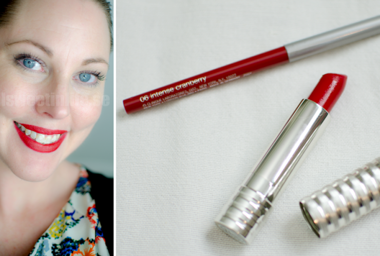 Röda läppar med Clinique Long Last Matt Lipstick i Crimson