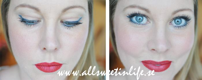 Här ser ni två närbilder på Makeuplooken jag gjort med Sleek och Nars produkter