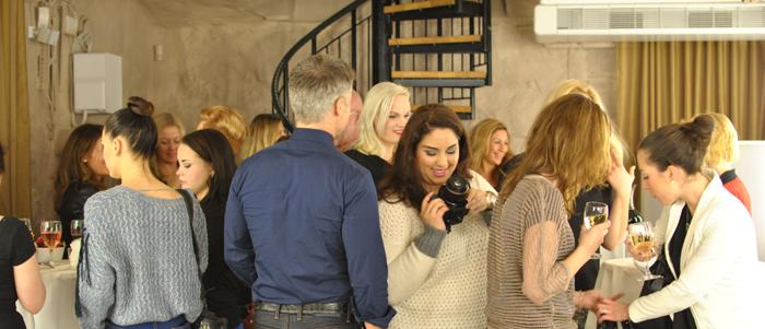 Mingel på små ytor på Daisy Beauty eventet med Björn Axen och OBH Nordica