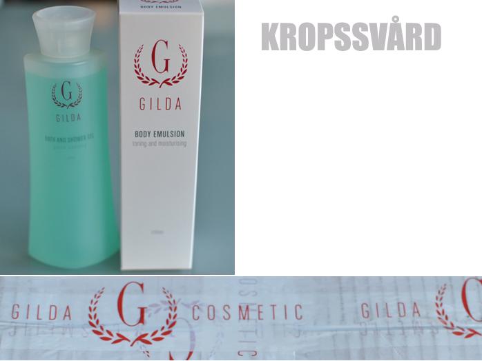 Gilda cosmetics duschkräm och bodylotion