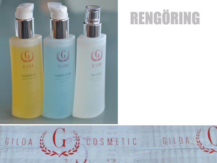 Gilda Oil Cleansing, hydrating toner och Aha toner
