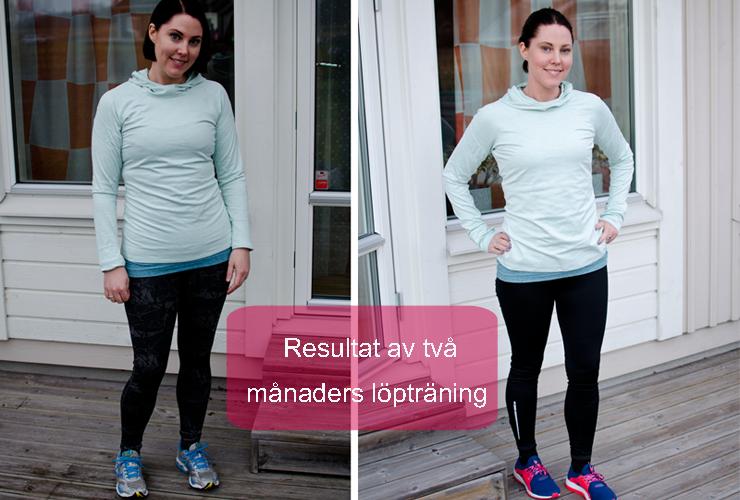 löpträning ger resultat skillnad på 2 månader
