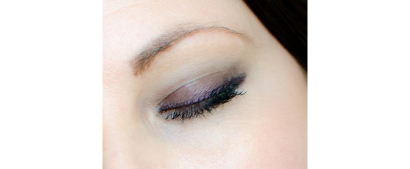 lila svart sotning makeup look