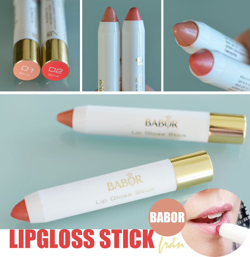 Swatches of Babor Lipgloss Stick