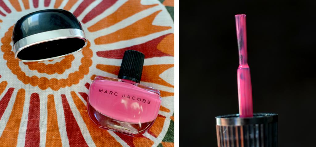 Marc Jacobs 116 shocking nagellack, bild på flaskan och på borsten