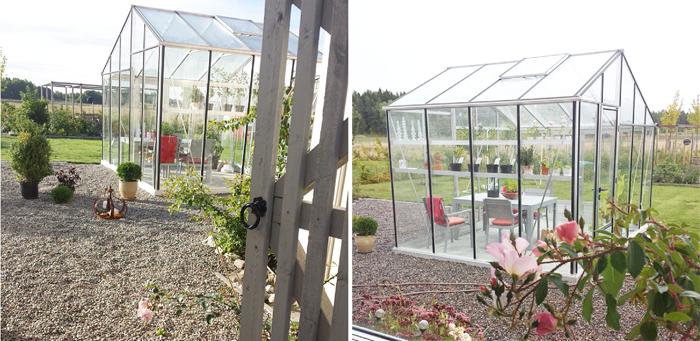 Bilder på mitt växthus som vi byggde 2013