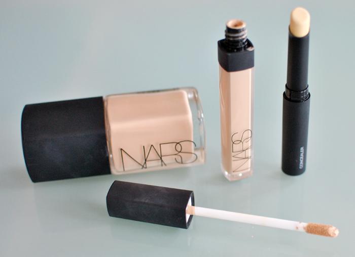 Nars sher glow and creamy concealer and concealer stick