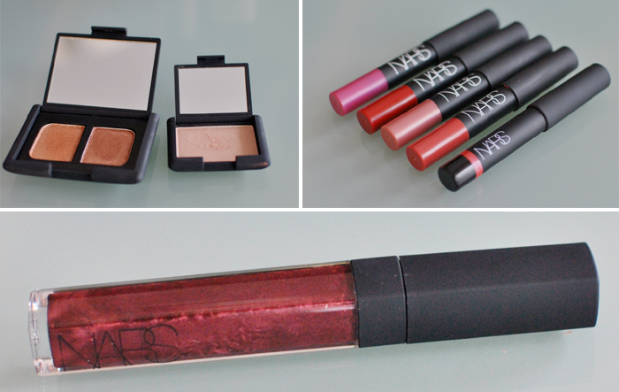 Nars shopping haul lipproducts and eyeshadows.