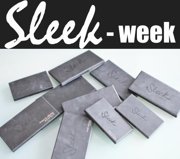 All sweet in life kör all in på Sleek produkter under vecka6