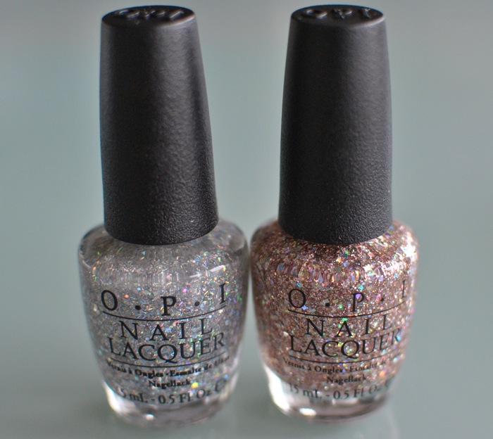 Opi Desperately Seeking Sequins and Rose Of Light