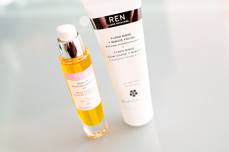 Ren skincare face oil and 1 minute face mask
