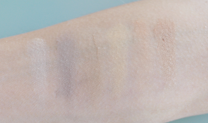 Swatches på Eau Naturell paletten