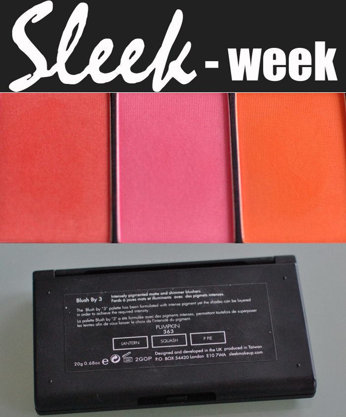 Närbild på Sleek Makeup blush paletten Pumpkin
