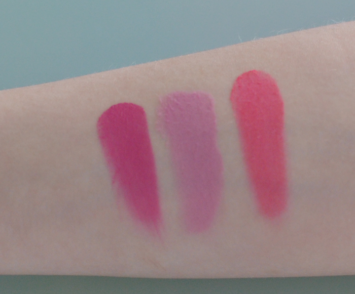 Swatches på Rouge Paletten Sweet-Cheeks