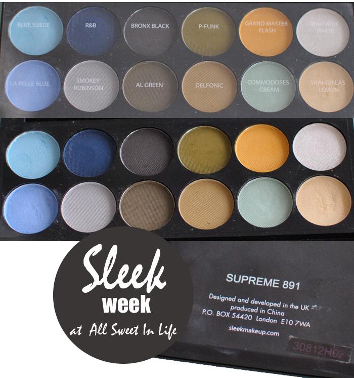 Närbild på PPQ Supreme Paletten från Sleek Makeup