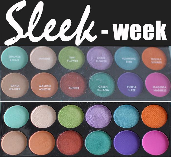 Här ser ni närbilder på Snapshot Paletten ifrån Sleek Makeup