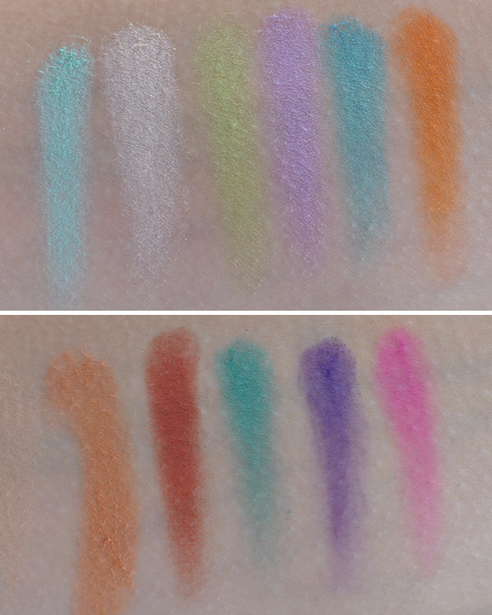 Swatches på Sleek Makeup Paletten Snap shot