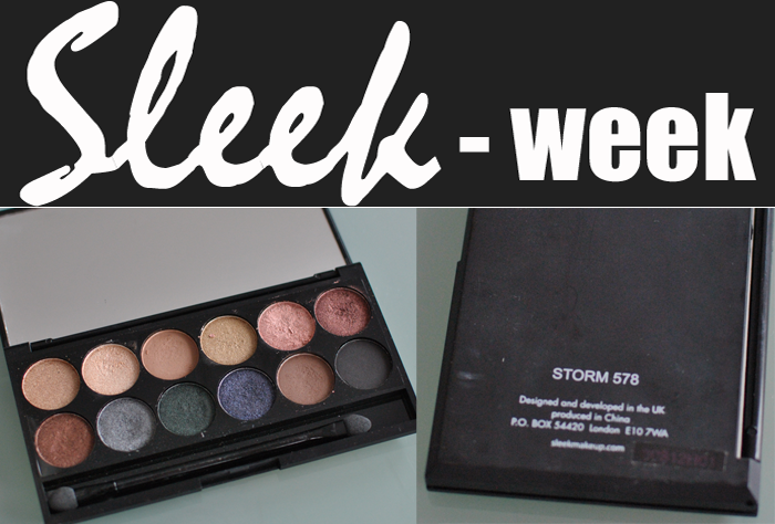 Sleek Make Up Storm Palett är näst ut i Sleek Week