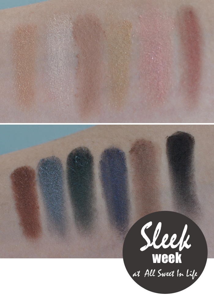 Sleek Makeup Storm Palett swatches