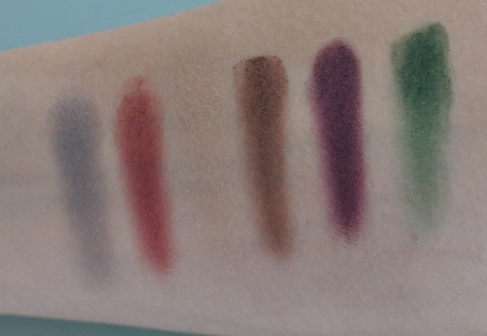 Swatches på Sleek Ultra Matte V2 andra raden