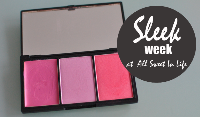 Sleek week fortsätter med Sweet Cheeks rouge palette
