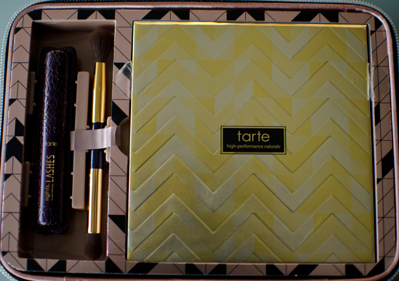 tarte light of the party collectors make up case palette brush and mascara