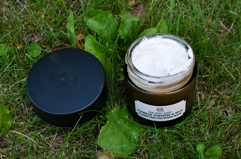 the body shop chinese ginseng and rice clarifying polishing mask