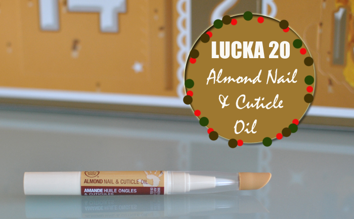 Almond nail and cuticle oil gömmer sig bakom lucka 20