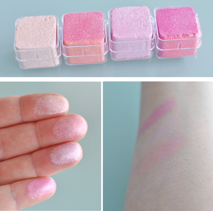 Närbilder och Swatches på Shimmer Cubes 26 från The Body Shop