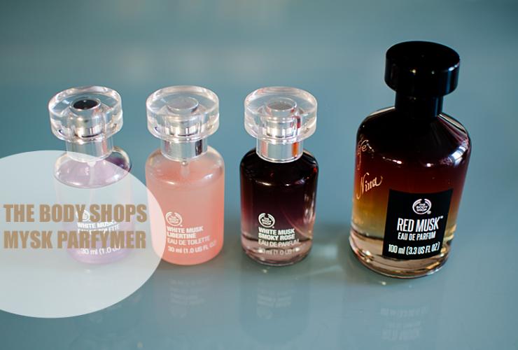Hälsa på The Body Shops Mysk parfymer.